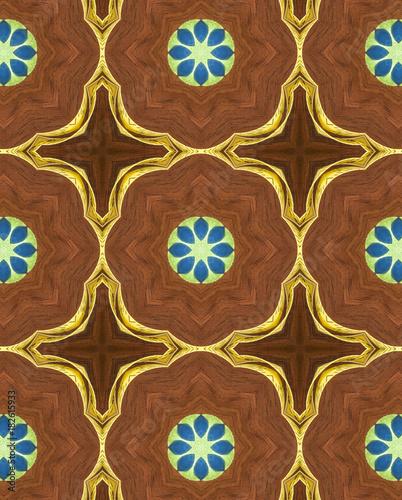 geometryczne-ornamenty-na-brazowym-tle