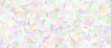 Iridescent Low Poly Background...