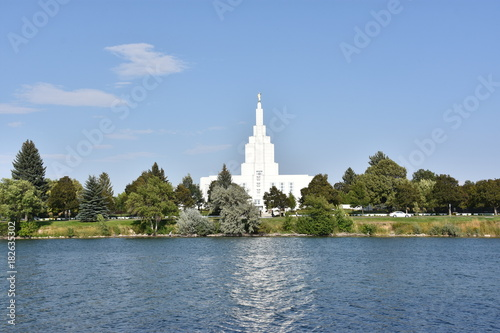 Recess Fitting Temple Mormon Temple at Idaho Falls in Idaho, USA