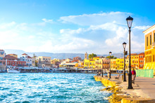 View Of The Old Port Of Chania...