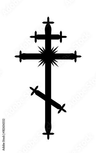 The Greek Catholic Orthodox Eight Pointed Cross Christian Symbol Of