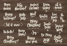 Set Of Holiday Greeting Quotes...