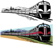 A Passenger Train Speeds Acros...