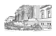 Sketch Illustration Of Central...