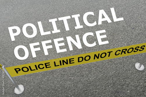 Political Offence concept Canvas Print