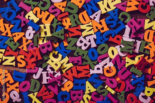 Spoed Foto op Canvas Graffiti たくさんのアルファベット
