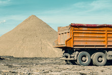 Back Of Truck And Pile Of Sand 3