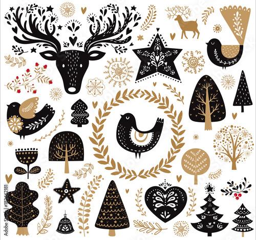 czarno-zlota-ilustracja-z-elementami-dekoracyjnymi-w-stylu-skandynawskim