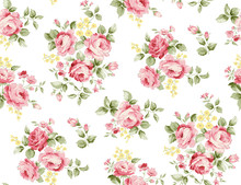 Beautiful Rose Flower Pattern ...