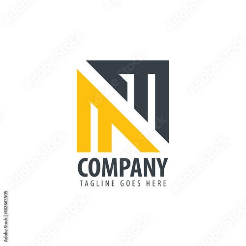Poster  Initial Letter MM Design Logo