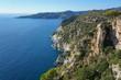 Spain coastal cliff, Cap Norfeu, Costa Brava, Mediterranean sea, Alt Emporda, Girona, Catalonia