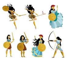 Amazon Greek Women Warriors Collection