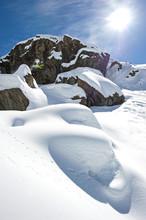 Skier In Mid-air, Alagna Valsesia, Piedmont, Italy