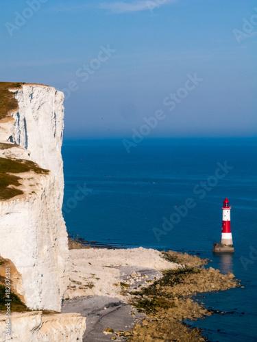 Fotografie, Obraz  Beachy head old lighthouse in UK