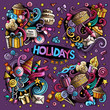 Colorful set of holidays object