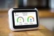 Leinwandbild Motiv Smart Meter Showing Dual Fuel Carbon Emissions