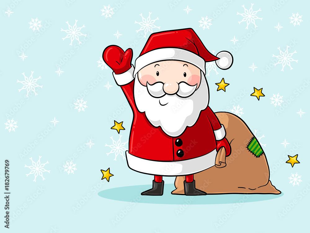 Gamesageddon Stock Winkender Comic Weihnachtsmann