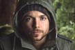 canvas print picture - Authentisches Outdoor Porträt eines Mannes