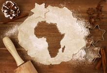 Cookie Dough Cut As The Shape Of Africa (series)