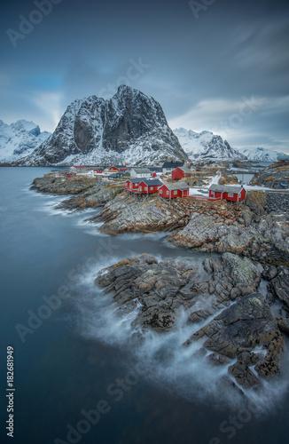 Deurstickers Noord Europa Fisherman's village, Lofoten