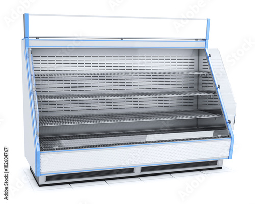 Fotografia Trade open refrigerated display case with shelves