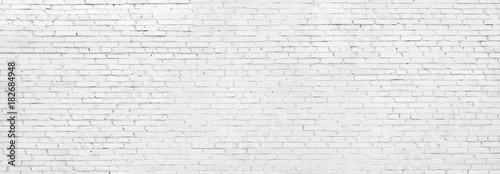 Photo grunge white brick wall, whitewashed brickwork background