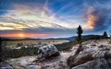 Fototapeta Sawanna - Zachód Słońca na Narożniku, w tle Sawanna Łężycka