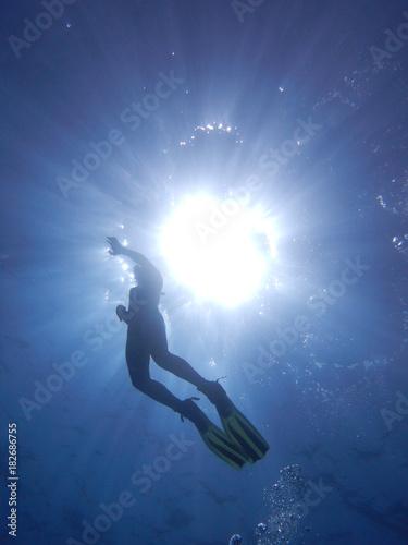Poster Pleine lune Snorkeling