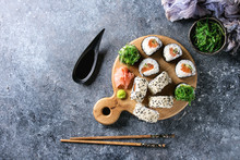 Homemade Sushi Rolls Set With ...