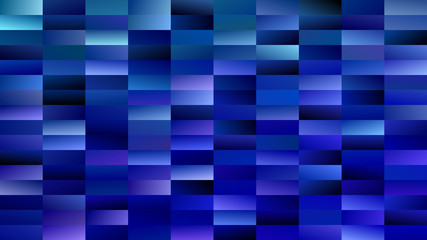 Panel SzklanyGeometrical gradient rectangle background - digital mosaic vector graphic from rectangles in blue tones