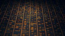 Golden Egyptian Hieroglyphs An...