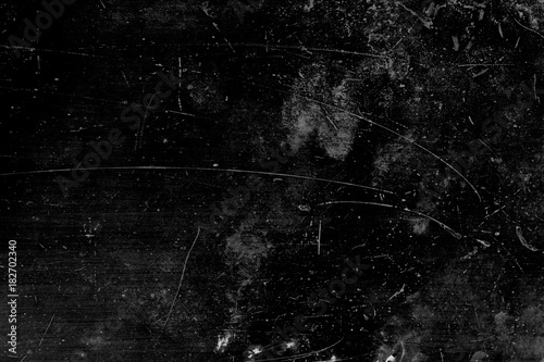 Fotomural  Grunge and scratch on black metal plate background