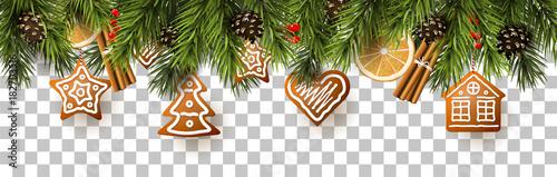 Obraz Traditional Christmas border - fototapety do salonu