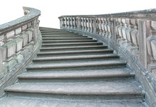 Vintage Stone Staircase Isolat...
