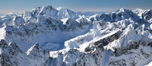 Beautiful Snowy Hills In High ...