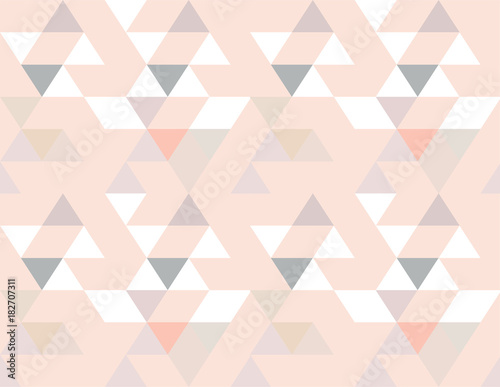 Abstract seamless geometric background vector wallpaper colorful repeat scandina Canvas Print
