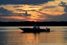 Fishermen Returning At Sunset On The River Florida, USA