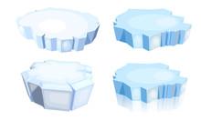 Set Of Ice Floes.  Cartoon Ima...