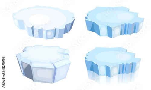 Vászonkép Set of ice floes