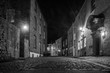 An old cobbled street in Durham city