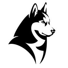 Husky Dog Black And White Desi...
