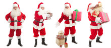 Set Of Portraits Santa Claus - With Christmas Gifts