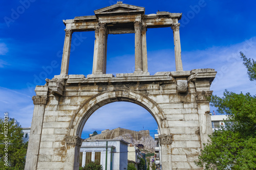 Tablou Canvas Athens, Greece Hadrian's Arch day view