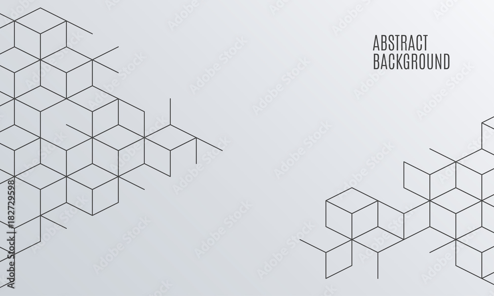 Fototapeta Vector abstract boxes background. Square mesh.