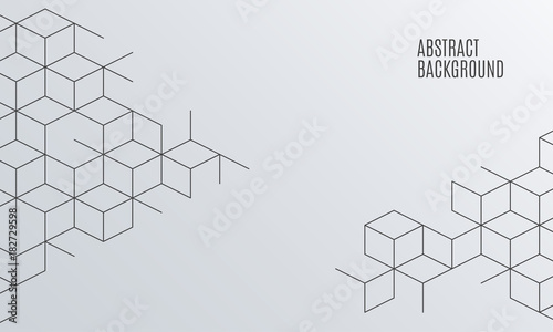 Obraz Vector abstract boxes background. Square mesh. - fototapety do salonu