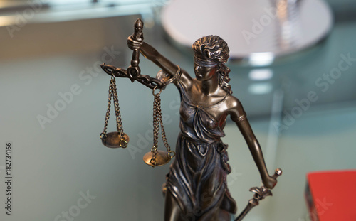 Fototapety, obrazy: Lady justice in an office of an attorney
