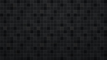 Abstract Background Of Tiles In Black Colors