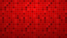 Abstract Background Of Tiles In Red Colors