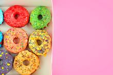 Tasty Glazed Donuts In Box On ...