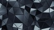 Abstract 3d rendering of triangulated surface, seamless animation. Contemporary loopable background of futuristic polygonal shape. Distorted low poly backdrop design with sharp lines. Loop, 4k, UHD